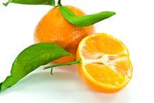 A Fresh Tangerine - Close Up Royalty Free Stock Photo