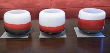 Free Row Of Red And White Candles Royalty Free Stock Photography - 3892867