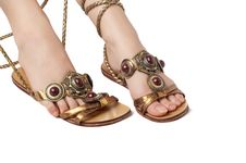 Free Decorated Sandals Royalty Free Stock Image - 3893076