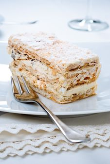 Multilayered Puff Pastry Royalty Free Stock Photography