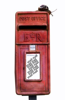 Free Old Rusty Red Post Box Royalty Free Stock Image - 3893756