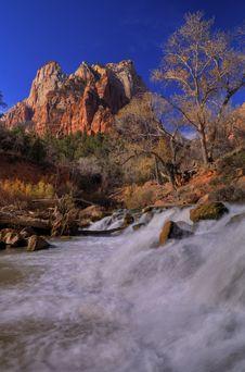 Free Zion Waterfall Stock Image - 3894401