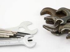 Free Wrenches And Screw-drivers Royalty Free Stock Photo - 3894765