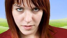 Free Aggressive Girl Staring At Camera Stock Images - 3894814
