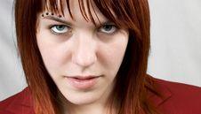 Free Aggressive Girl Staring At Camera Royalty Free Stock Photo - 3894825