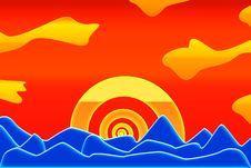Free Caribbean Sunset. Stock Photos - 3895493