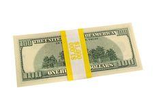 Free Banded One Hundred Dollar Bills Stock Photo - 3895590