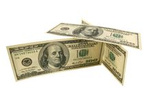 Stacked One Hundred Dollar Bills Royalty Free Stock Photo