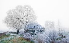 Free Small Dutch House In Winter Stock Image - 3895821