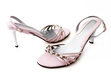 Free Back And Front View Elegant Pink Shoes Stock Photo - 3897120