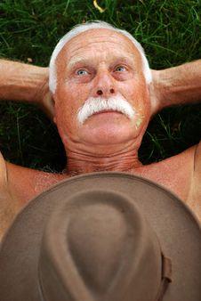 Free Senior On Grass Stock Photos - 3897893