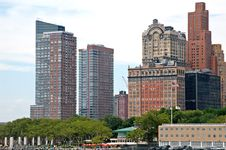 Manhattan  And The Pier 5 Stock Images