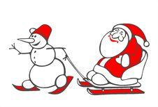 Free Snowball And Santa Stock Photography - 3898822