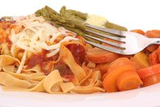 Pasta And Carrots Royalty Free Stock Photography