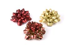 Free Red And Golden Christmas Bows Stock Photos - 3899363