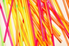 Free Random Colorfull Straws Stock Photography - 3899542