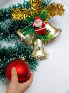 Free Christmas Decoration On White Background Royalty Free Stock Photo - 390435