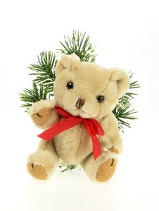 Free Christmas Teddy Royalty Free Stock Photography - 390707