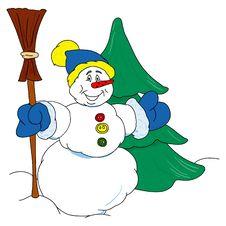 Free Snowman Royalty Free Stock Photo - 391685