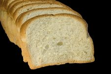 Free Slices Of Bread Isolated On Black Royalty Free Stock Images - 391959