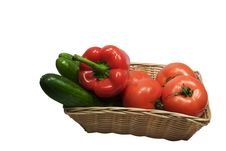 Free Basket With Vegetables Stock Photos - 391983