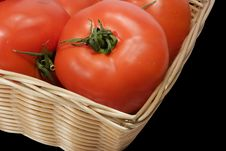 Free Basket With Tomatoes Royalty Free Stock Photos - 391998