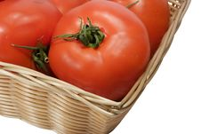 Free Basket With Tomatoes Royalty Free Stock Photo - 392495