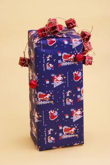 Free Blue Parcel - Blaues Geschenkpaket Stock Image - 394511