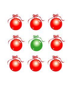 Free Red And Green Christmas Baubles Stock Images - 394694