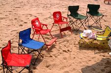 Free Beach Chairs Royalty Free Stock Photos - 394738