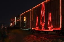 Free Side Of Decorated Train Cars Royalty Free Stock Photo - 398015
