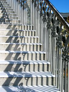 Free Stairs In Winter Stock Images - 398794