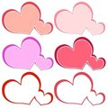 Free Various Heart Shaped Logos Or Labels Royalty Free Stock Image - 3909306