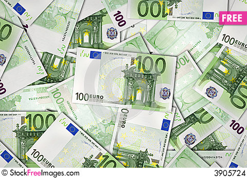 Free European Union Banknotes Of 100 Euro Stock Images - 3905724