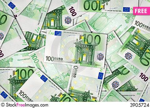 Free European Union Banknotes Of 100 Euro Stock Images - 3905724