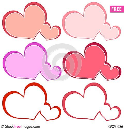 Various Heart Shaped Logos Or Labels - Free Stock Photos & Images ...