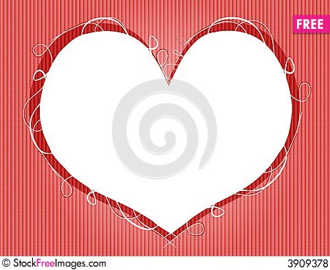 valentine s day heart shaped frame