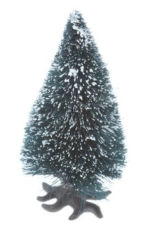 Small Plastic Christmas Tree Royalty Free Stock Image
