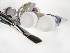 Free Paint Tubes Royalty Free Stock Photos - 3902248