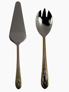 Free Golden Serving Utensils Royalty Free Stock Photos - 3903808