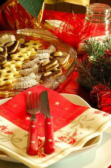 Free Christmas Table Setting Stock Photo - 3905010