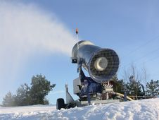 Free Snow Gun Stock Photography - 3905072