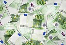 European Union Banknotes Of 100 Euro Stock Images