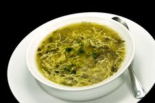 Free Soup Of Goose. Close Up Stock Image - 3905811