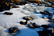 River Ice Royalty Free Stock Photos