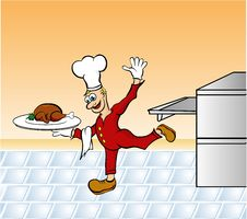 Free Voila Chef Stock Image - 3906911