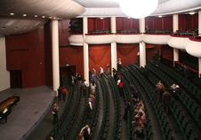 Free Listeners, Who Leave Concert Hall Royalty Free Stock Photo - 3907275