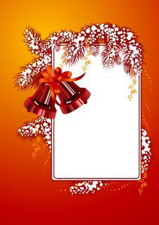 Free Frame With Christmas Bells Red Color Royalty Free Stock Images - 3907409