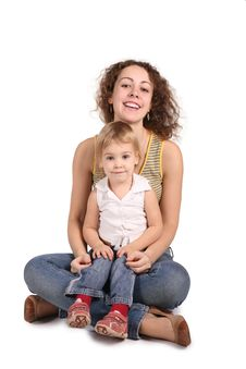 Free Mother And Daughter Sit Royalty Free Stock Photo - 3907425