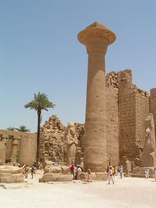 Free Luxor Temple In Egypt Stock Image - 3907471